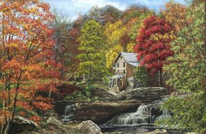 Glade Creek Grist Mill Autumn